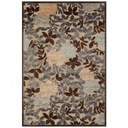 Feizy® Soho Art Silk Pile Transitional Rug, 7'6 x 7'6 Round, Ivory/Dark Gray