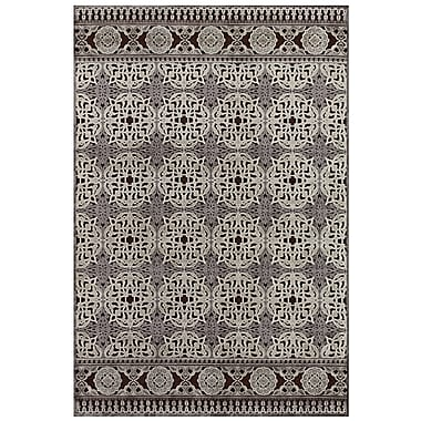 Feizy® Soho Silk Pile Traditional Rug, 7'6in. Round, Dark Chocolate/Silver