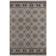 "Feizy® Soho Silk Pile Traditional Rug, 5'3"" x 7'6"", Dark Chocolate/Silver"