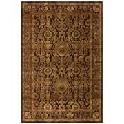 "Feizy® Soho Art Silk Pile Contemporary Rug, 7'6"" x 10'6"", Dark Chocolate"