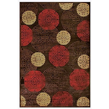 Feizy Soho Saphir Rug, 5' x 8', Dark Chocolate/Multi