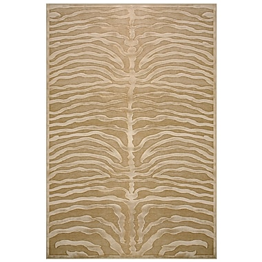 Feizy® Soho Art Silk Pile Contemporary Rug, 7'6in. x 10' 6in., Ivory