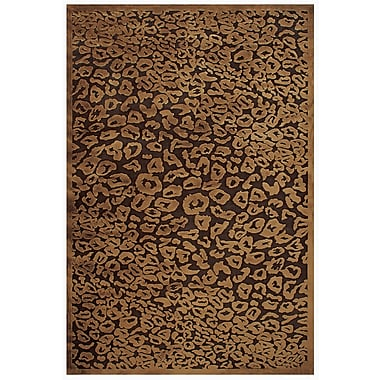 Feizy® Soho Art Silk Pile Transitional Rug, 5'3in. x 7'6in., Dark/Chocolate