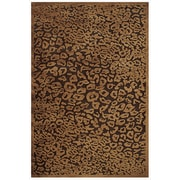 "Feizy® Soho Silk Pile Transitional Rug, 7'6"" Round, Dark Chocolate"