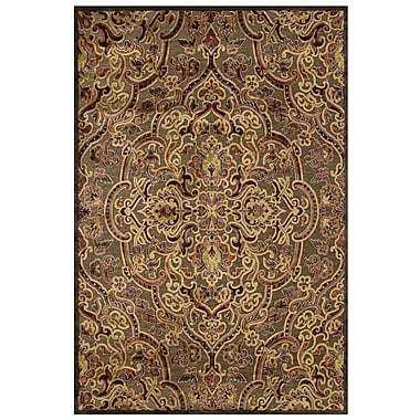 Feizy Soho Rug, 5'x8', Coffee/Rust