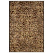"Feizy® Soho  Art Silk Pile Contemporary Rug, 9'8"" x 12'7"", Coffee/Rust"