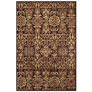 Feizy Soho II Rug, 5'x8', Dark Chocolate/Multi
