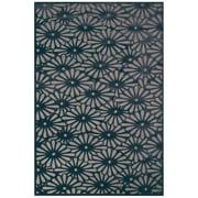 """Feizy® Soho Laois Art Silk Pile Floral Rug, 5'3"""" x 7'6"""", Gray/Charcoal"""
