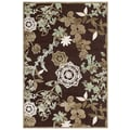 Feizy Soho Rug, Dark Chocolate/Sage