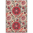 "Feizy® Soho Wells Art Silk Pile Traditional Rug, 5'3"" x 7'6"", Cream/Nutmeg"