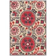 "Feizy® Soho Wells Art Silk Pile Traditional Rug, 7'6"" x 10'6"", Cream/Nutmeg"