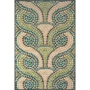 "Feizy® Soho Carrara Art Silk Pile Transitional Rug, 7'6"" x 10'6"", Cream/Dark Gray"