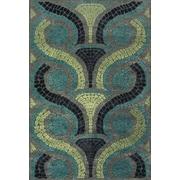 "Feizy® Soho Carrara Art Silk Pile Transitional Rug, 7'6"" x 10' 6"", Steel/Dark Gray"