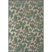 "Feizy® Soho Carrara Art Silk Pile Floral Rug, 5'3"" x 7'6"", Steel/Light Silver"