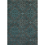 "Feizy® Soho Carrara Art Silk Pile Contemporary Rug, 9'8"" x 12'7"", Dark Gray/Marine"