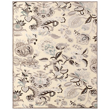 Feizy Soho Rug, 5'x8', Cream/Gray