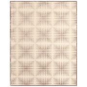 "Feizy® Soho Penelope Art Silk Pile Transitional Rug, 2'6"" x 8', Cream/Gray"