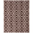 Feizy® Soho Penelope Art Silk Pile Contemporary Rug, 5'3in. x 7'6in., Dark Chocolate/Gray
