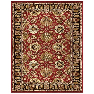 Feizy® Yale Rug, 8'X11', Red/Black