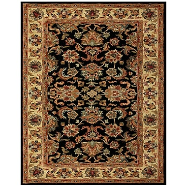 Feizy Wakefield Rug, 4'x6', Black/Gold