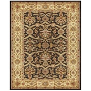 "Feizy® Veranda Pure Wool Pile Traditional Rug, 9'6"" x 13'6"", Chocolate/Ivory"