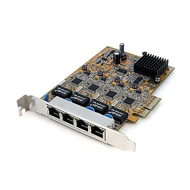 Startech.com® ST1000SPEX4 4 Port PCI Express Gigabit Ethernet NIC Network Adapter Card