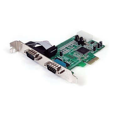 Startech.com® PEX2S553 2 Ports Native PCI Express RS232 Serial Adapter Card With 16550 UART