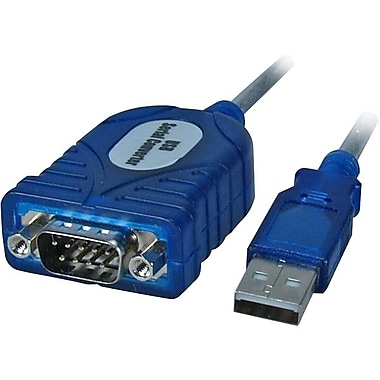 QVS® 4.5' USB to DB-9 Serial Adaptor Cable