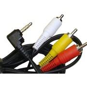 Calrad 55-867B-6 6' Mini-Phone Stereo Audio to RCA Stereo Audio Cable, Black