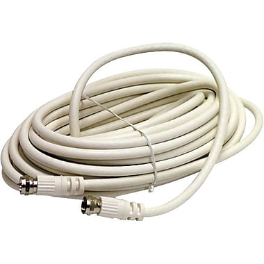 STEREN BL-215-450WH 50' RG6 Coaxial Patch Cable, White