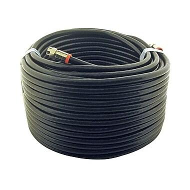 STEREN BL-215-450BK 50' RG6 Coaxial Patch Cable, Black