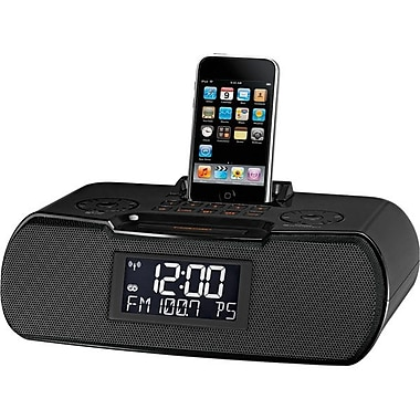 Sangean RCR-10 Stereo Desktop Atomic Clock Radio, Black