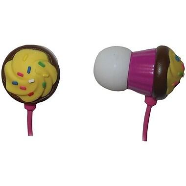 Maxell CCVF-CHOC Vanilla Frosting Cupcake Earbud, Pink