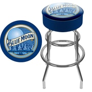 Trademark Global® Vinyl Padded Swivel Bar Stool, Blue, Blue Moon