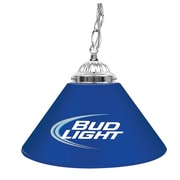 "Trademark Global® 14"" Single Shade Bar Lamp, Blue, Bud Light"