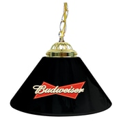 "Trademark Global® 14"" Single Shade Bar Lamp, Black, Budweiser®"