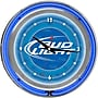 Trademark Global® Chrome Analog Neon Wall Clock, Bud