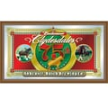 Trademark Global® 15in. x 26in. Black Wood Framed Mirror, Budweiser® Clydesdales 75th Anniversary