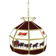 "Trademark Global® 16"" Tiffany Lamp Lighting Fixture, Budweiser® Clydesdale"