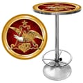 Trademark Global® 28in. Solid Wood/Chrome Pub Table, Gold, Budweiser® A & Eagle