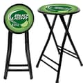 Trademark Global® 24in. Cushioned Folding Stool, Black, Bud Light Lime