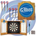 Trademark Global® Solid Pine Dart Cabinet Set, Bud Light