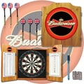 Trademark Global® Solid Pine Dart Cabinet Set, Budweiser®