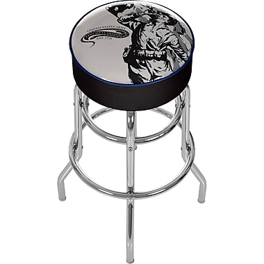 Trademark Global® Vinyl Padded Swivel Bar Stool, Black, U.S Army The Horn Calls