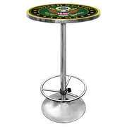 "Trademark Global® 27.37"" Solid Wood/Chrome Pub Table, Green, U.S Army Symbol"