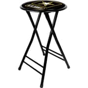 Trademark Global® 24 Cushioned Folding Stool, Black, U.S. Army