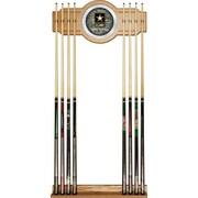Trademark Global® Wood and Glass Billiard Cue Rack With Mirror, U.S. Army Digital Camo