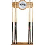 Trademark Global® Wood and Glass Billiard Cue Rack With Mirror, U.S. Army The Horn Calls