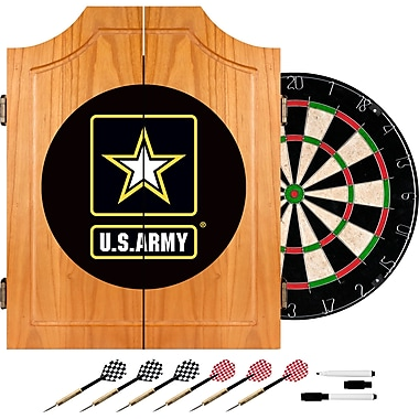 Trademark Global® Solid Pine Dart Cabinet Set, U.S. Army