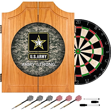 Trademark Global® Solid Pine Dart Cabinet Set, U.S. Army Digital Camo